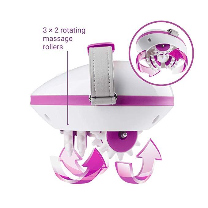 Diferentes áreas del cuerpo: El masajeador para celulitis AC 850 es flexible y se puede utilizar para los brazos, las piernas y los glúteos Piel más firme: El masaje de los glúteos, muslos, brazos y caderas con el rodillo de masaje activa la circulación sanguínea y aumenta el metabolismo y el flujo linfático. Dos intensidades de masaje: Se puede elegir entre una intensidad lenta y una más rápida Fácil de limpiar: Los rodillos de masaje de nuestro aparato de masaje son fáciles de quitar y se pueden limpiar con agua corriente. Diseño ergonómico: El masajeador para celulitis es fácil y cómodo de usar en todos los aspectos. A esto contribuye el mango ajustable individualmente Tiene cable