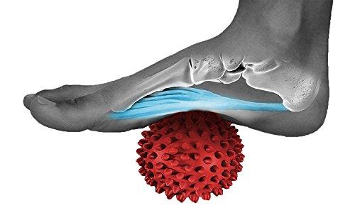 tratamiento fascitis plantar con bola de masaje