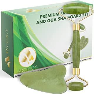 rodillo facial de jade hecho de piedra de jade 100% natural
