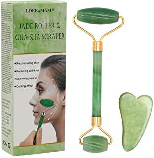 Masajeador facial en forma de rodillo hecho en jade natural