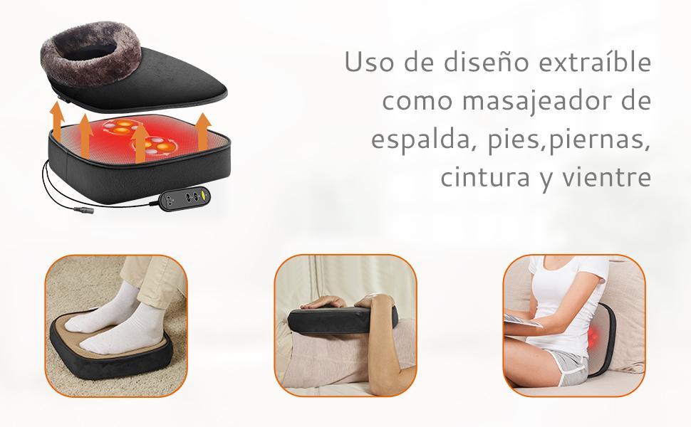 masajeador eléctrico para pies marca Snailax, masajeador eléctrico a buen precio